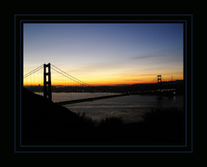 Marin Headlands. Golden Gate Bridge. Dawn.