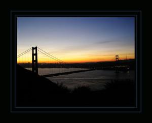 Marin Headlands. Golden Gate Bridge. Dawn.